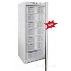 Armoire 600 litres négative Blanche   - 1 porte -avec casiers