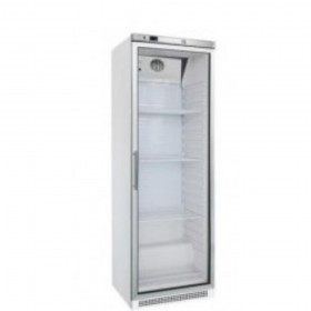 Armoire porte vitrée 600 litres positive Blanche   - 1 porte -
