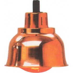 Lampe infra-rouge chauffante Chromée