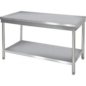Table de travail inox démontable version centrale profondeur 600 mm