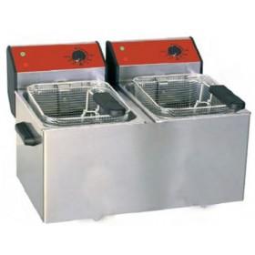Friteuse de comptoir double cuves 2 x 5 litres professionnelle