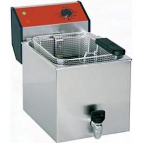 Friteuse à poser professionnelle 8 litres avec robinet de vidange