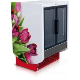 Armoire vitrée présentation fleurs coupées